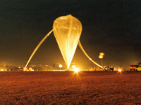 The balloon carrying scientific payload which discovered new bacteria 40km above earth.
