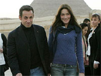 French President, Nicolas Sarkozy with wife Carla Bruni