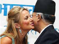Ginger kiss lands Nepal PM in trouble