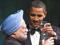 PM Manmohan very happy with Obama dinner