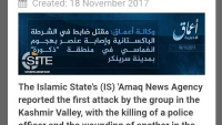 Breaking: ISIS claims its first attack in the Kashmir Valley