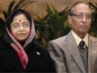 Pratibha with her husband