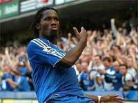 Drogba scores an impressive hat-trick