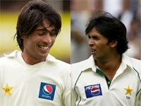 Pakistan players Amir and Asif