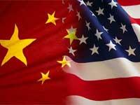 China-US flag