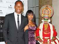 Didier Drogba and wife Alla at 'Your Moment is Watiting' Premier