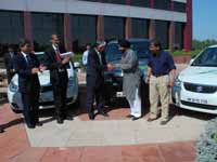 Maruti hands over cars for CWG