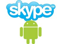 Skype and Android logos