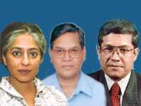 Radha Kumar, MM Ansari and Dilip Padgaonkar