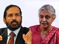 Suresh Kalmadi and Sheila Dikshit