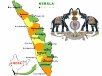 Kerala map and official seal