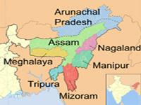 Meghalaya in seven sister states