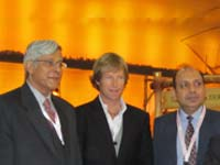 Jonty Rhodes at World Trade Market 2010 Kerala Pavilion