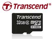Transcend 32 GB microSDHC memory cards