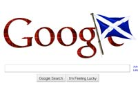 Goolgle St Andrew's Day doodle