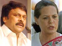 Chiranjeevi and Sonia Gandhi