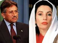 Pervez Musharraf and Benazir Bhutto