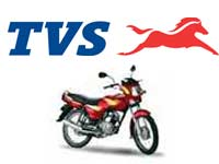 TVS Motors logo with bike