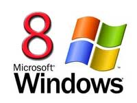 Microsoft Windows logo with number eight