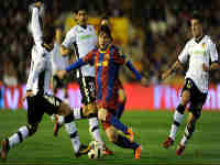 Messi against Valenica, Image: Getty