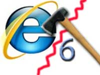 IE6 and axe logo