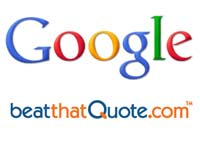 Google and BeatThatQuote logos