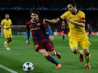 Messi in action against Arsenal on Mar 8, Image: Getty
