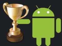 Android logo with trophy