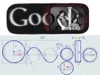 Alam Ara doodle and 2010 Pi-Day doodles