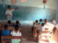 Children siting in a class room