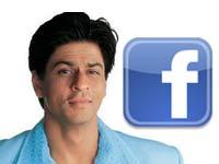 Shahrukh Khan with Facebook logo