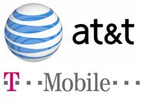 AT&T and T-Mobile logos