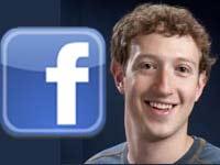 Facebook logo and Mark Zuckerberg