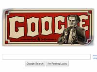 Google doodle for Harry Houdini