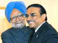 Manmohan Singh and Asif Ali Zardari