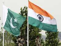 Pakistan and Indian flags