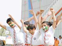 India-Pakistan fans outside Mohali stadium