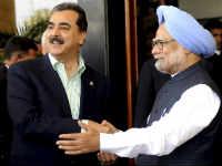 Manmohan Singh and Yousuf Raza Gilani