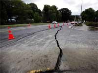 New Zealand earth quake