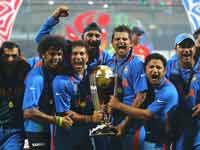 Indian players with World Cup