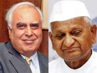 Kapil Sibal-Anna Hazare