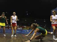 Badminton girl players