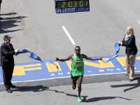 Geoffrey Mutai at the Boston Marathon