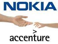 Nokia and Accenture logos