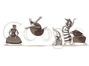 Google Doodle on Martha Graham's b'day