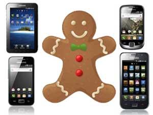 Gingerbread update for Samsung Galaxy smartphones