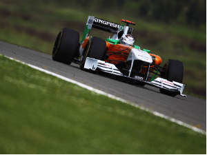 Adrian Sutil of Germany and Force India drives during practice for the Turkish Formula One Grand Prix at Istanbul