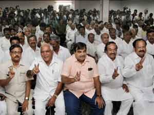 BJP MLAs with Yeddyurappa