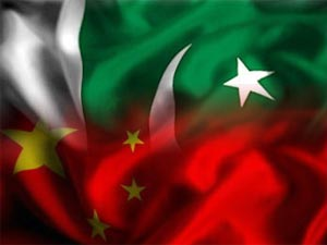 Pakistan-China flags