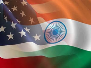 US-India flags